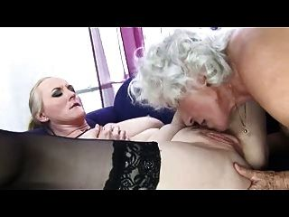Lesbian Fun For Three Grannies - Pt. 2