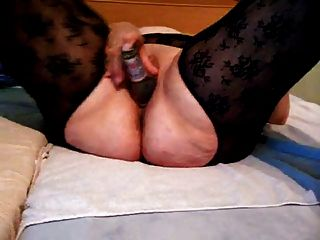 Mature German Amateur Inserting Beer Bottle Clip 1 Of 2