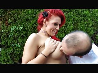 Hot Redhead Gets Fucked Outdoors