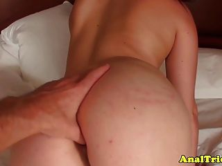 First Time Anal For Small Titted Real Gf