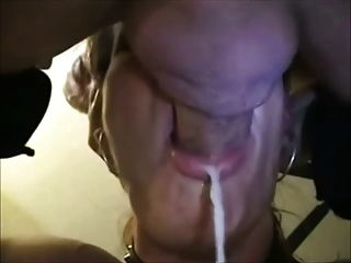 Mature Amateur Gives A Very Sloppy Blowjob