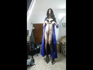 Chinese Crossdresser Masturbation