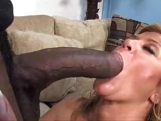 Blonde Mature Cougar Milf Sucking Big Black Cock