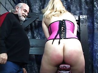 Slut Gets Bend Over And Guy Puts Dildo In Her Pussy