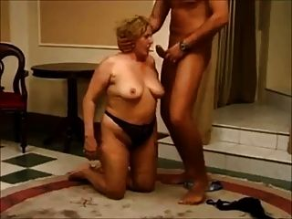 German Granny Blowjob