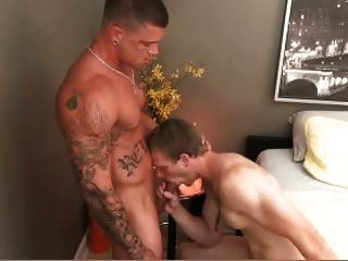 Tattooed Guy Fucks White Guy