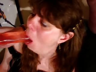 Amateur Milf Deepthroat With Cock And Dildo