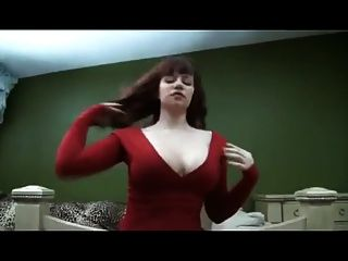 Mistress Sara Chastity Tease In Red Dress Pov