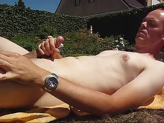 Eating My Cum With A Spoon In The Garden