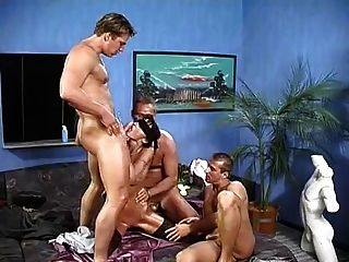 3 Men Blindfold And Sensually Fuck Her ((fyff))