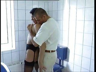Bath Fucking In Black Nylons