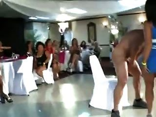 Gorgeous Party Chicks Sucking The Strippers Cock