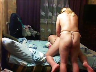 Woman Fucks  Man With A Strap-on