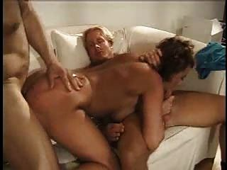 Mature Woman Does Two Guys