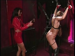 image January seraph and karrlie dawn femdom latex flogging