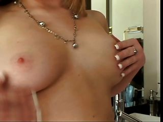 Hot Blonde Toys Herself For Pleasure