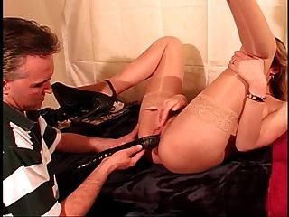 Cute Young Shaved Pussy Girl Sucks Dick And Gets Her Cunt Stretched By Big Toys