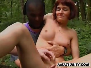 Amateur Teen Girlfriend Outdoor Threesome With Facial