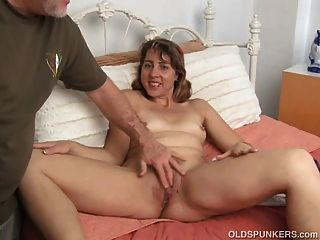 Cute And Cuddly Milf Enjoys Her Sexy Body Being Played With