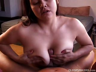 Busty Old Spunker Is A Super Hot Fuck And Loves To Eat Cum