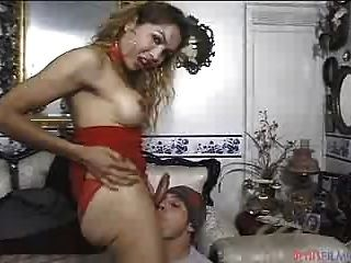 Lucky Dude Playing With This Amazing Transsexual-s Penis!