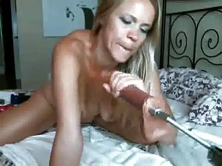 Cute Blonde Gagging On A Dildo