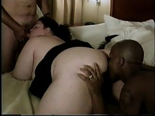 Beautiful College Bbw Gets Double Dickdown