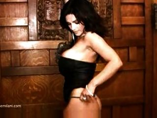 Denise Milani In A Black Dress - Non Nude