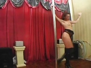 British Slut Kira Pole Dances