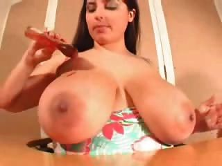 She Plays With Her Big Boobs 04