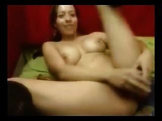 Hot Slut Got Her Pussy Flowing With Her Cum