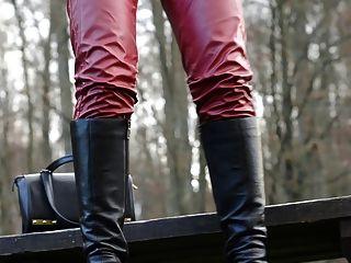 Slut In High Heels And Boots