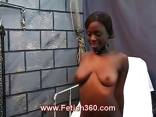 Naked Ebony Girl Loves Getting Whipped
