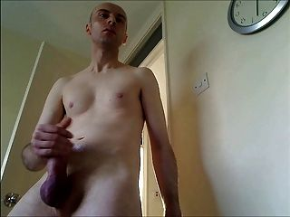 Jerking My Pumped Cock Meat