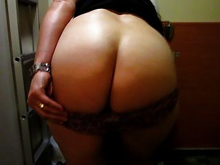 Mature Wife Shows Big Booty Ass