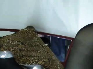 A Pantyhosed Whore Getting Off On Cam