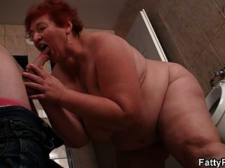 He Bangs Huge Fatty In The Public Restroom