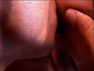 Brunette Bends Over So Dude Can Lick And Finger Her Asshole
