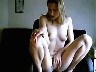 Blond Rubbing Pussy On Webcam