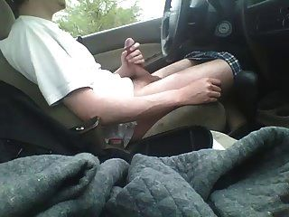 Jacking Off In Car.