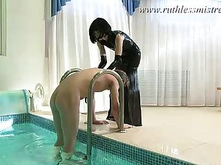 A Sex Servant In The Pool