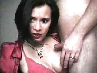 Spunky Amateur Brunette Gets A Taste Of Cock