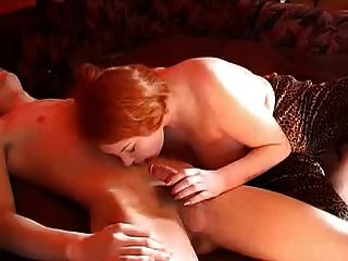 Chubby Russian Redhead With Younger Lover