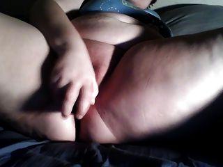Bbw Masturbates Her Wet Pussy With A Dildo