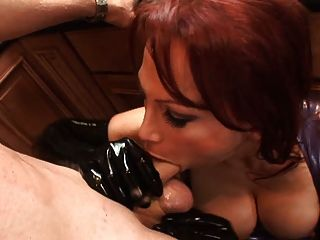 Latex Whore Bouncing On Big Cock.