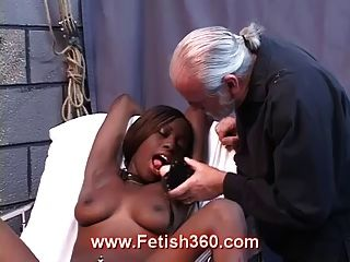 Naked Ebony Chick Gets Punished