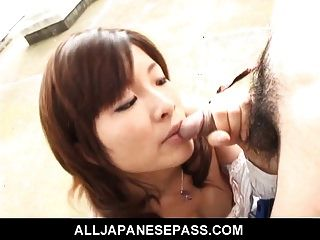 Sexy Japanese Milf In Pink Undies Sucking Cock