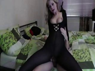 Girl Fucked In Opaque Bodystocking