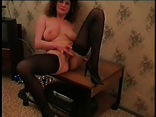 Hot Russian Milf Gives Strip Show And Masturbate
