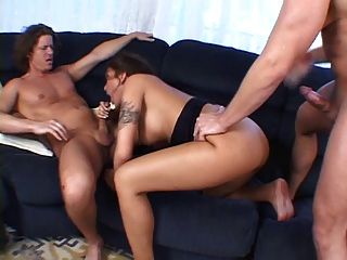 Curvy Milf Takes On Double Penetration For A Huge Facial.